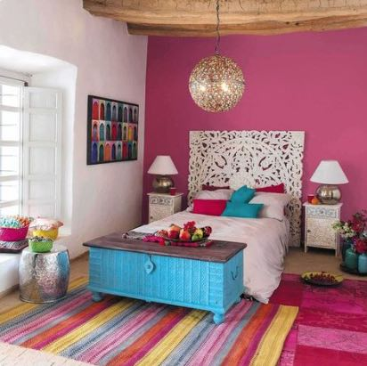 colorful adobe interior