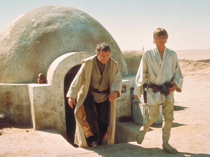 Luke Skywalker lives in a cob house