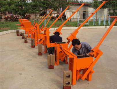 manually Operated Compressed earth brick press