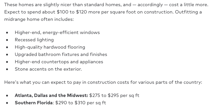 What is the Cost Per Square Foot of Different Earth Building