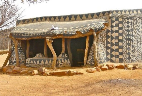 Traditional Cob House in Burkina Faso