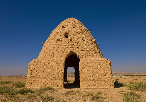 Weathered beehive house in Syria