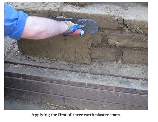 Applying earthen plaster