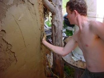 Applying Mud Plaster
