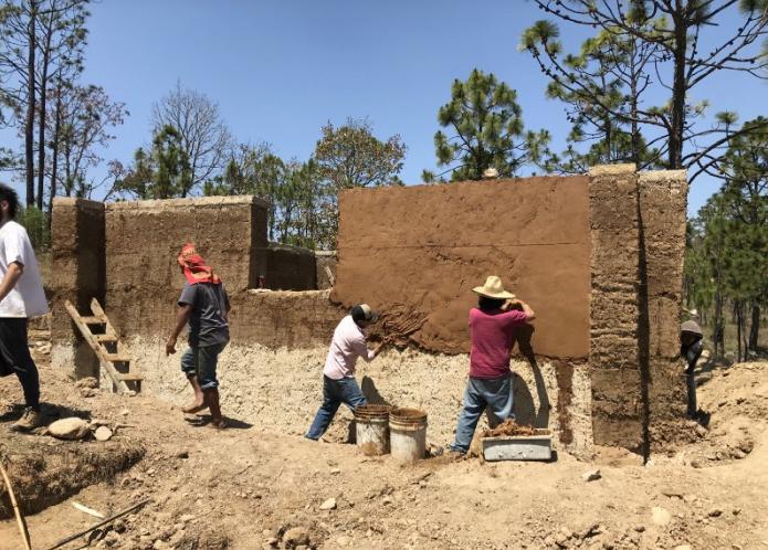 Applying plaster by hand