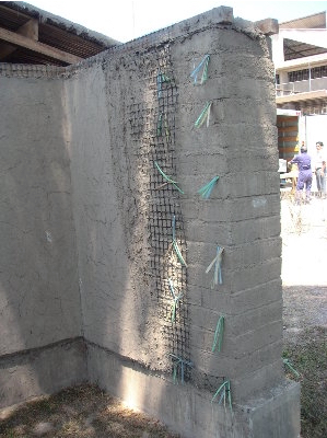 Mud covered adobe