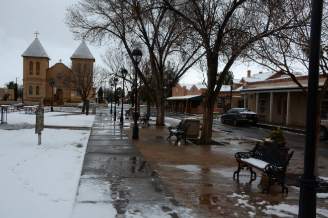 New Mexico Village in December