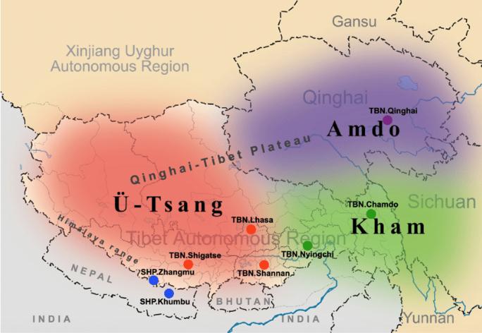 Map of Tibet 2
