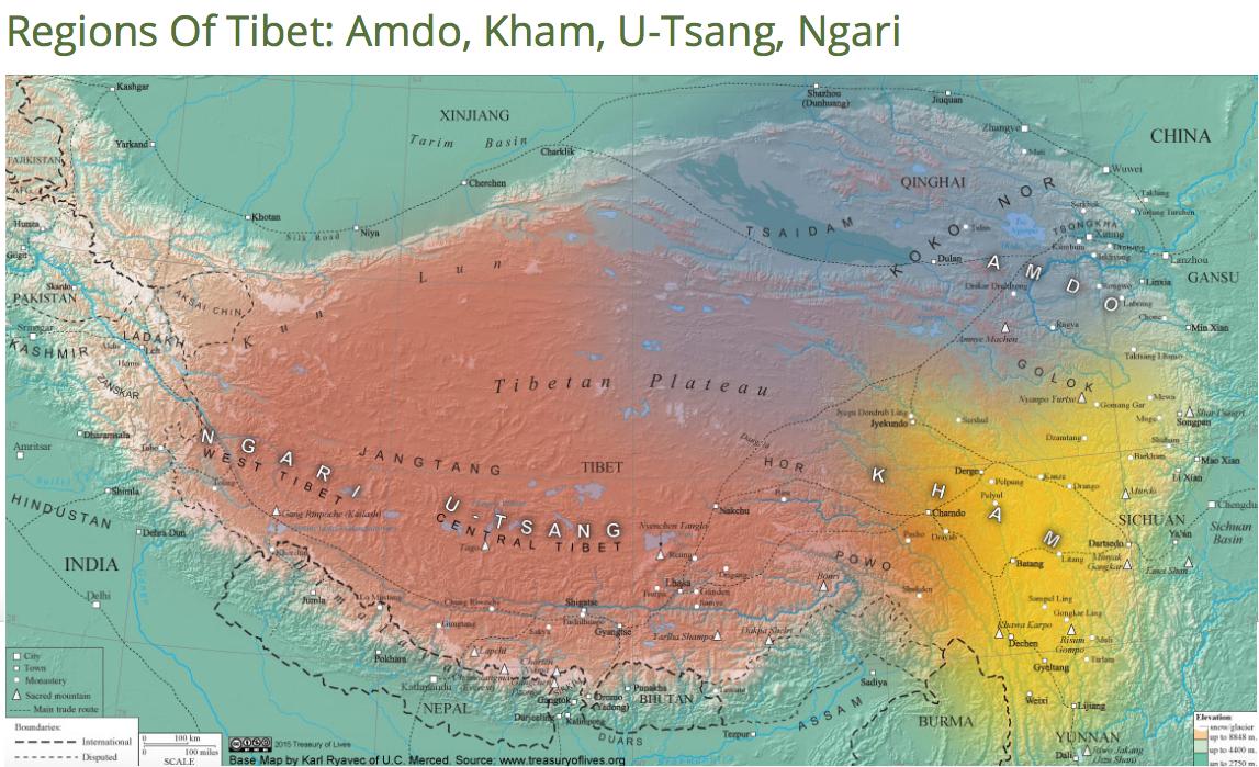 Regions of Tibet